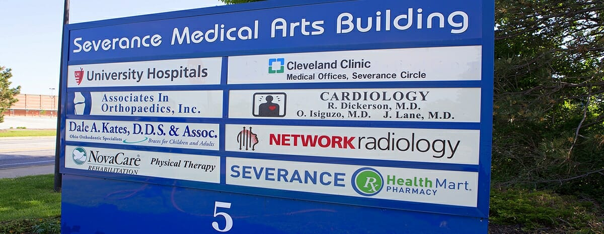 cleveland heights ohio family dentist location sign